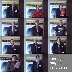 Mayoral candidates for Wellington