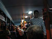 Bus ride on a Saturday night