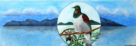 Keruru, Wood Pigeon artwork