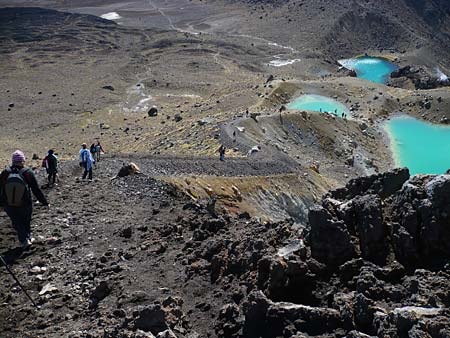 The track down to the Emerald Lakes