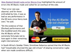 Try the All Blacks lineout challenge - click on the image to view full size
