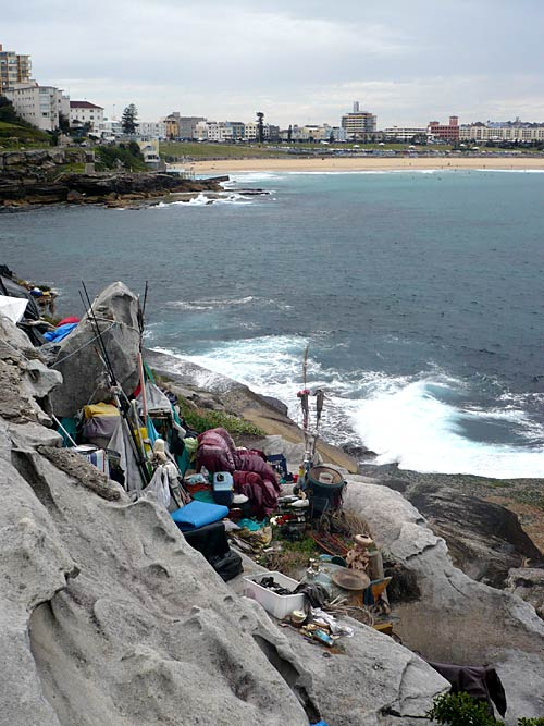 The Bondi Caveman's cliff top paradise