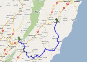 Leg 2: Ashhurst to Waipukurau - 189 kms