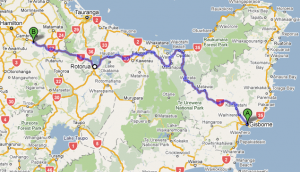 Leg 4: Gisborne to Karapiro - 352 kms