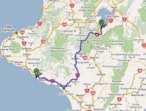 Leg 6: Patea to Turangi - 237 kms