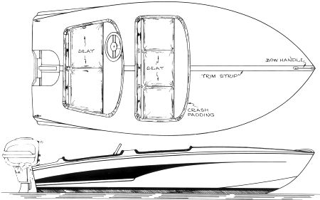 Line drawing of the Flying Saucer