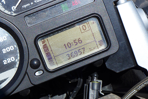 My speedo at the start of the NI1600