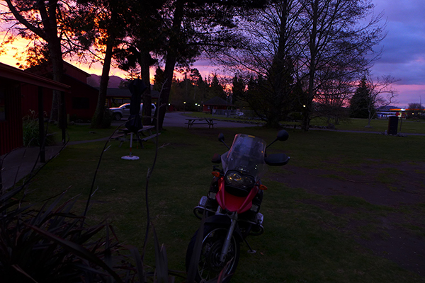 Sunset in Turangi - nice way to end the weekend